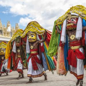 Das Dasara-Festival im indischen Mysore, wo man derzeit eher wirtschaftliche Fortschritte feiern will.